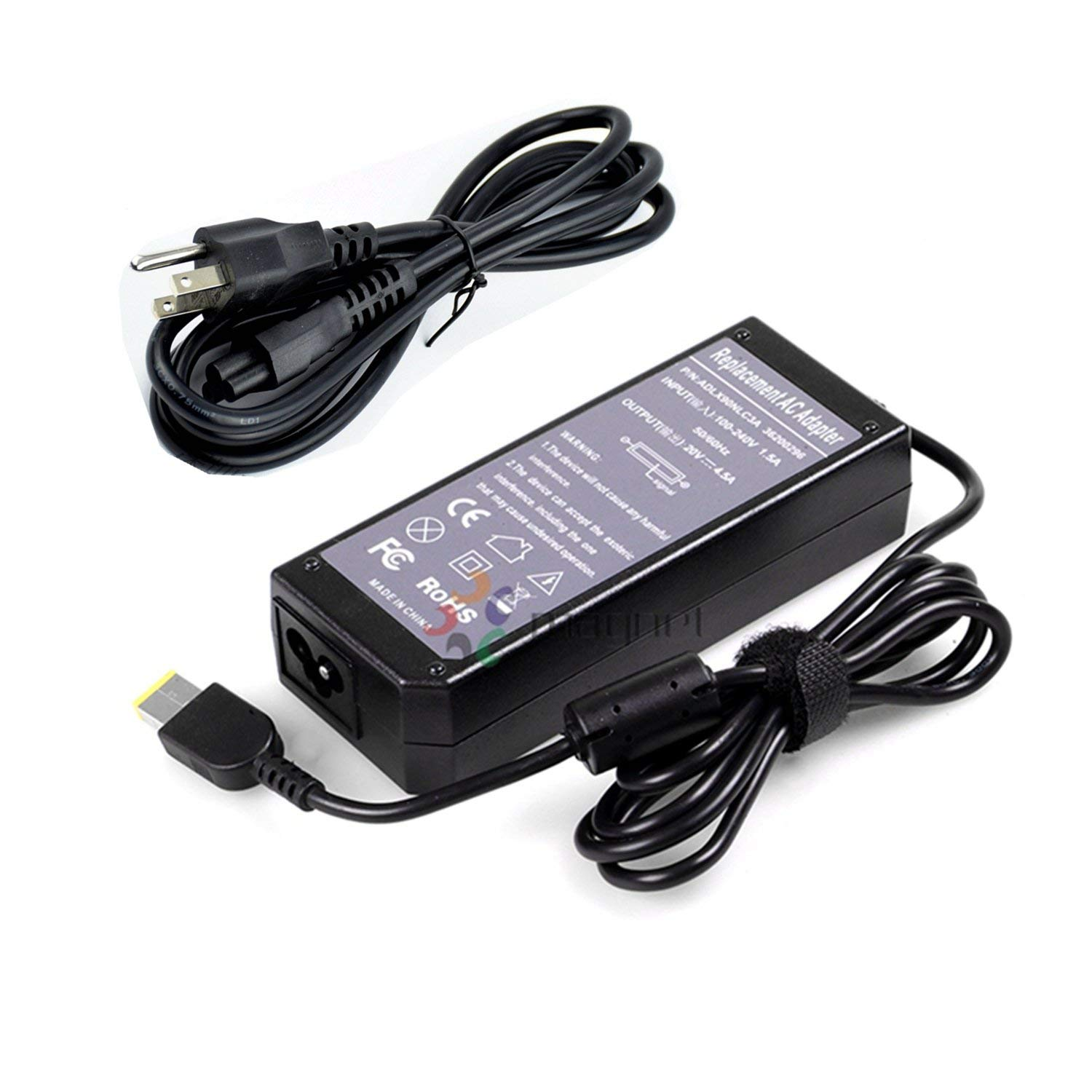 20V 4.5A 90W Power Supply Adapter Charger for Lenovo ThinkPad X1 Carbon 3444-CUU Slim Tip 0B46994T440 T440p T440S g700 With US Cable