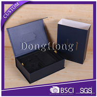 Silver glossy magnet cigarette storage box with tray