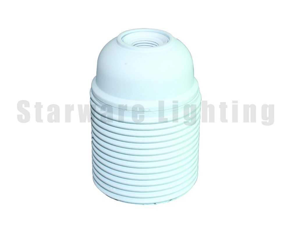 E27 bakelite lampholder all thread white bakelite bronze color for pendant light edison vintage lamp
