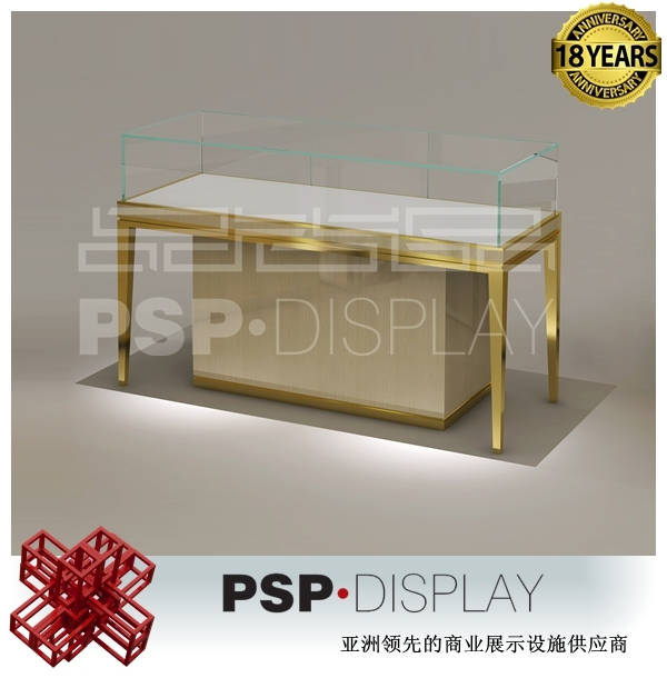 Attractive Modern Style Glass Display Table Cabinet