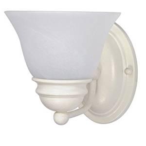 "(USA Warehouse) Nuvo Lighting 60/352 Textured White Single Light Reversible Lighting 6.25"" Wide -/PT# HF983-1754427360"