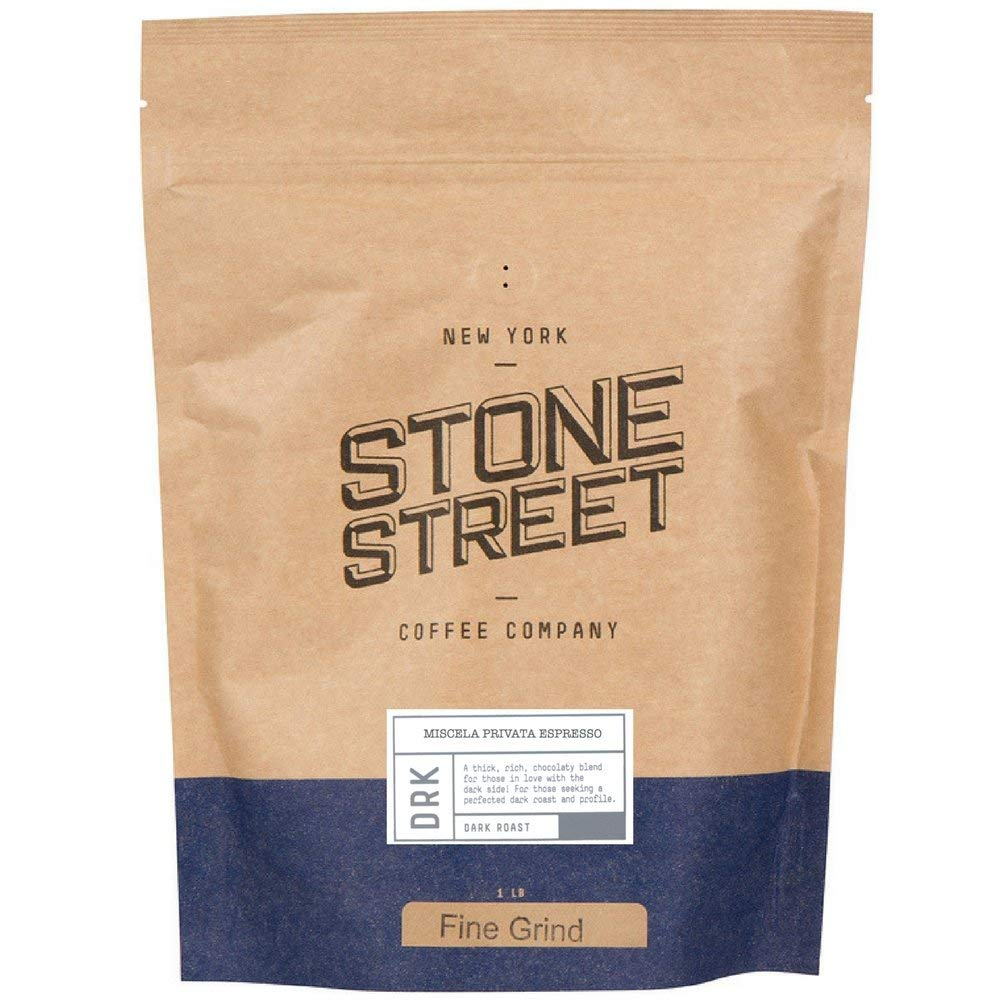 MISCELA PRIVATA Italian Style Espresso | Fine Ground Coffee | Dark Roast | 1 LB Bag | Great Crema, Full-Body, Rich, & Balanced | Specialty Handcrafted 100% Arabica Artisan Small Batch
