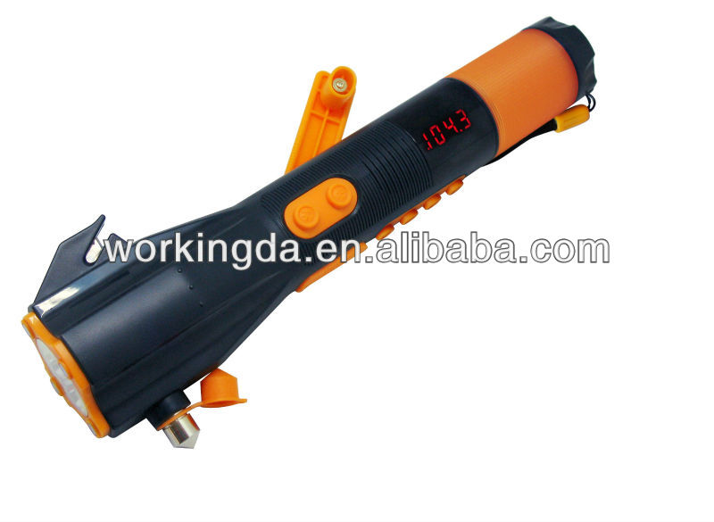 hand crank AM/FM radio emergency torch light with mobile phone charger
