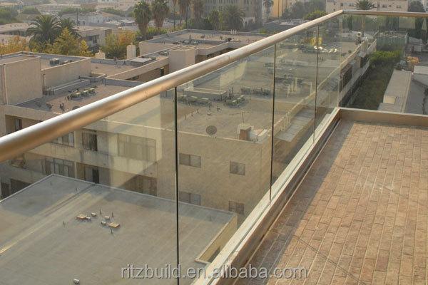 Indoor Aluminum Base Shoe Glass Rails
