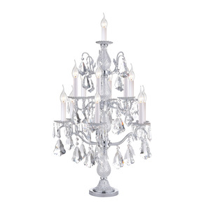 13 light silver iron candle luxury modern crystal chandelier table lamp