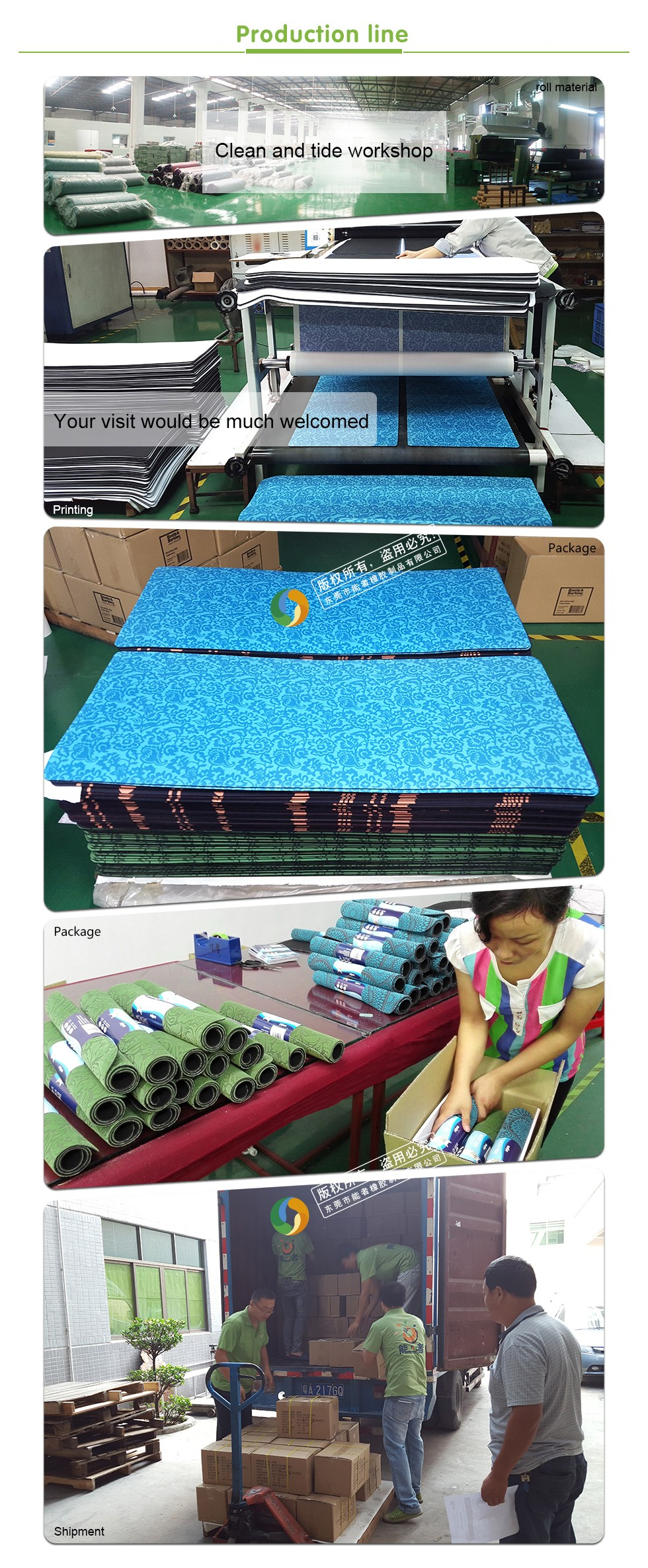 Eco-friendly /natural rubber material floor mat manufacturer
