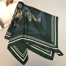 wholesale scarf manuafcturer silk scarf custom digital print silk satin chiffon women square scarf hijab