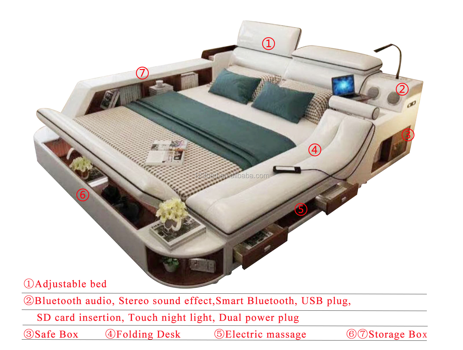 Hoge kwaliteit moderne aantrekkelijke ontwerp export bed A635