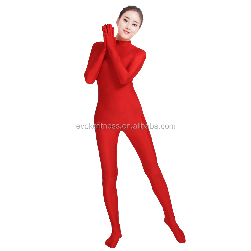 Red Boat Neck Adult Full Body Ballet Unitard/Dance Costume/ Gymnastics Leotard/Cosplay Wear