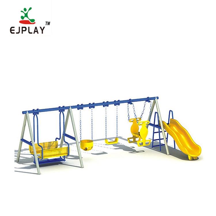 European Standard Outdoor Swing Children Outdoor Swing And Slide Set