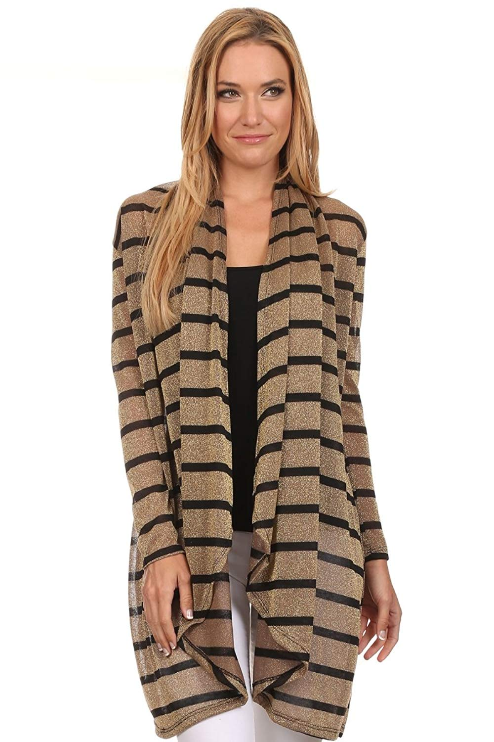 f48064651b Get Quotations · Pretty Young Thing Women s Long Sleeve Thick Cardigan
