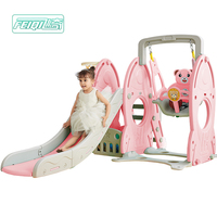 2018 hot sale children plastic outdoor slide and swing