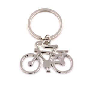 Promotional gifts custom metal bike shape key ring keychain