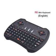 Mini 2,4G R6 Wireless Keyboard Spiel Fly Air Maus <span class=keywords><strong>Fernbedienung</strong></span> mit Touchpad für PC Pad Google Android TV Box