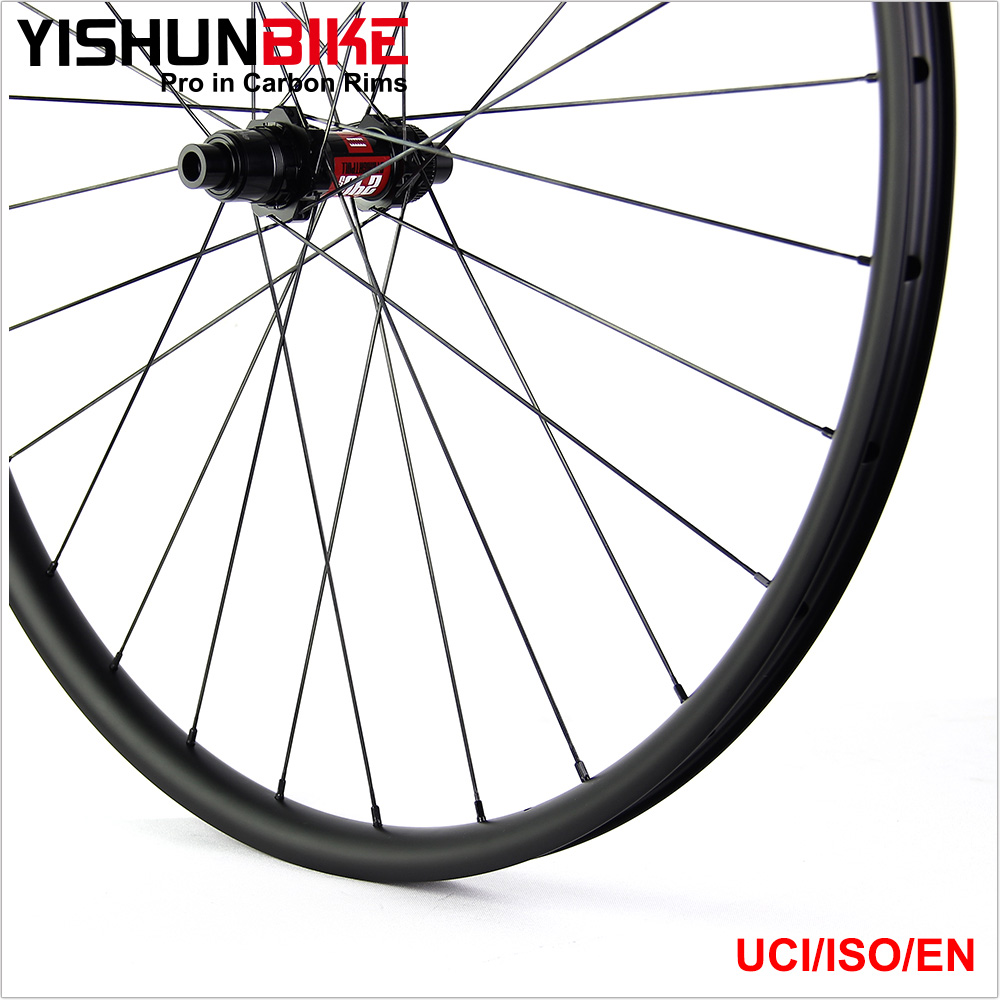 2018 YISHUNBIKE handbuild carbon wheels 29er mtb boost 12x148 center lock mountain bicycle wheelset TRAIL 240S BOOST-29-33S