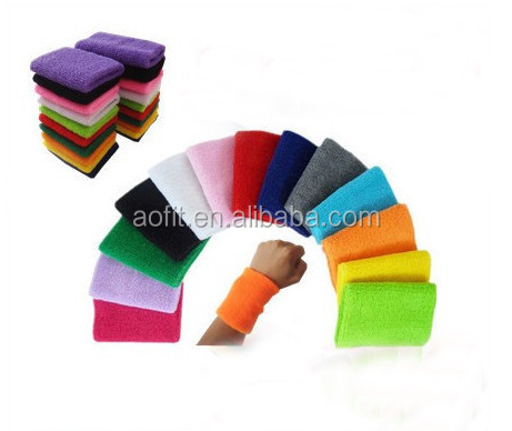 Custom Sport Cotton Tennis Wrist Band Sweat Absorb With High Quality, Wristbands