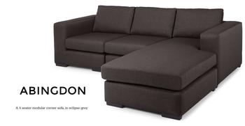 Abingdon 4 Seater Modular Corner Sofa,Eclipse Grey - Buy 4 Seater Modular  Sofa,4 Seater,Modular Corner Sofa Product on Alibaba.com