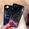 Glitter Bling Liquid Quicksand Phone Case for iPhone 6 6S 8 7Plus X Soft Silicone Edge Hard Plastic Transparent Back Cover Shell