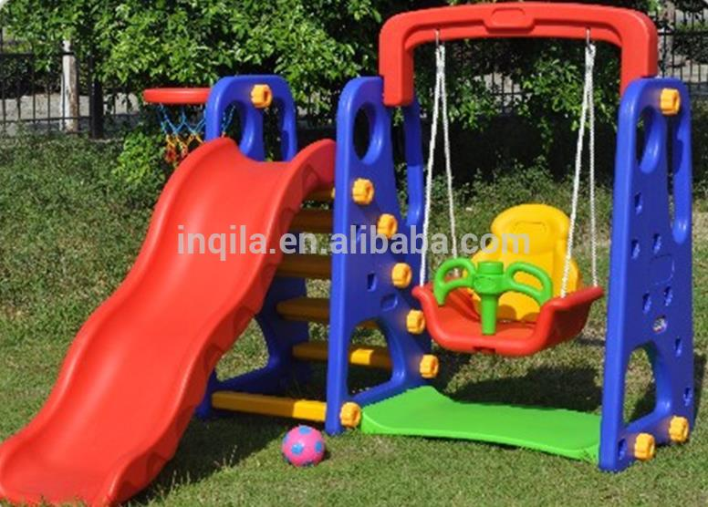 Hot Sale Cheap Multifunctional Plastic Kids Slide And Swing Set