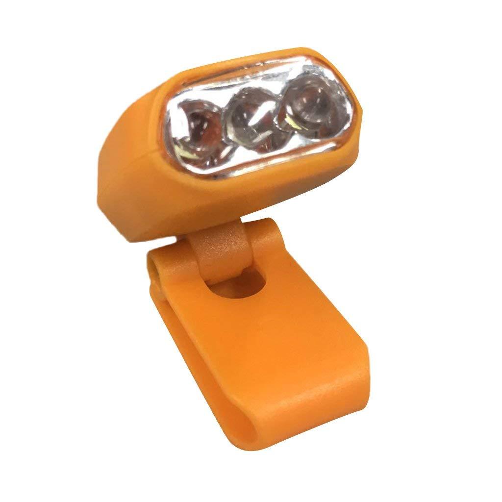 Homyl Clip-on Cap Visor Lamp Head Light Hand Free for Camping Hiking Outdoor
