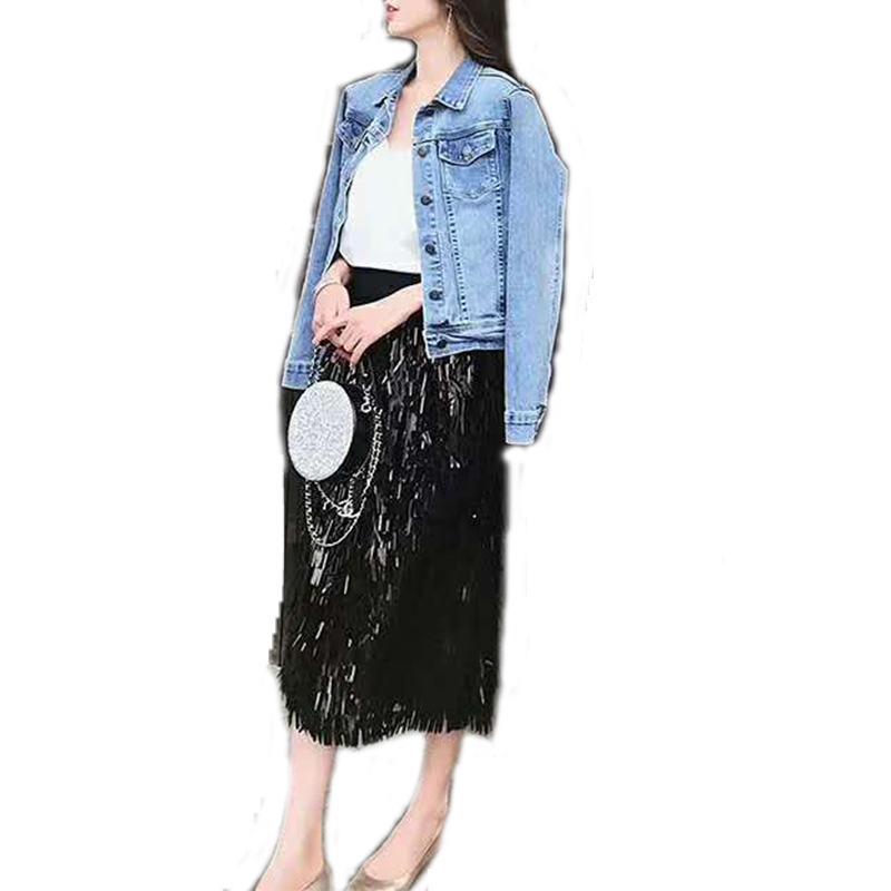 619f74217 Venta al por mayor moda con falda corta con lentejuelas-Compre ...