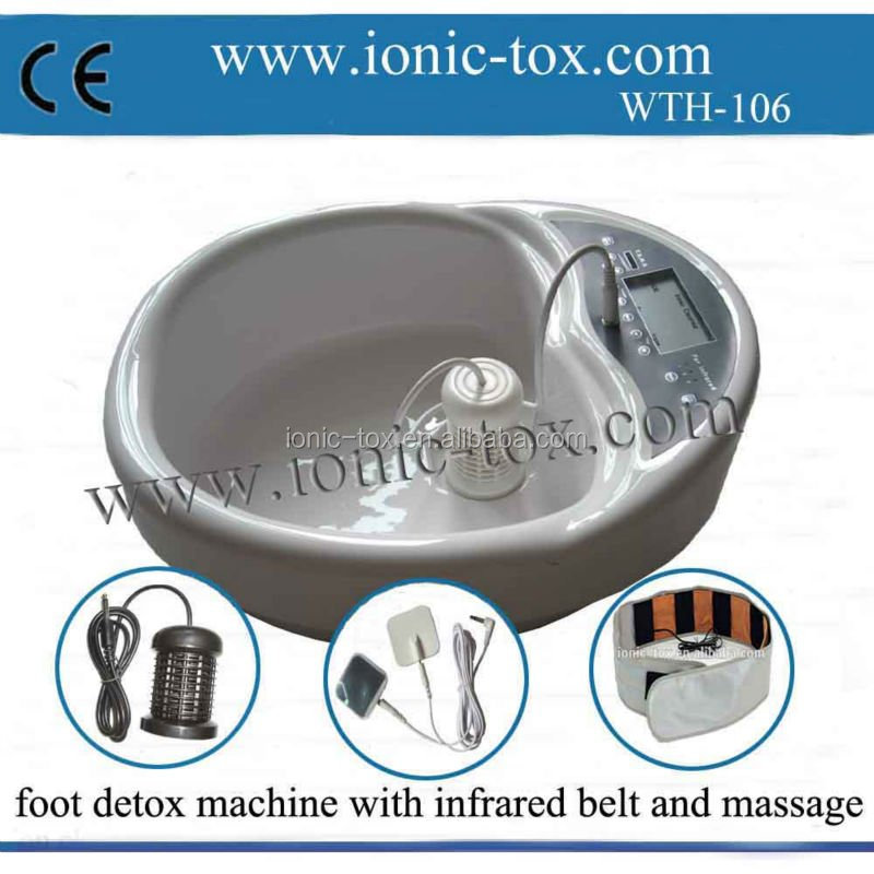 Big LCD screen with array wristband Ion Cleanse Detox Foot Spa