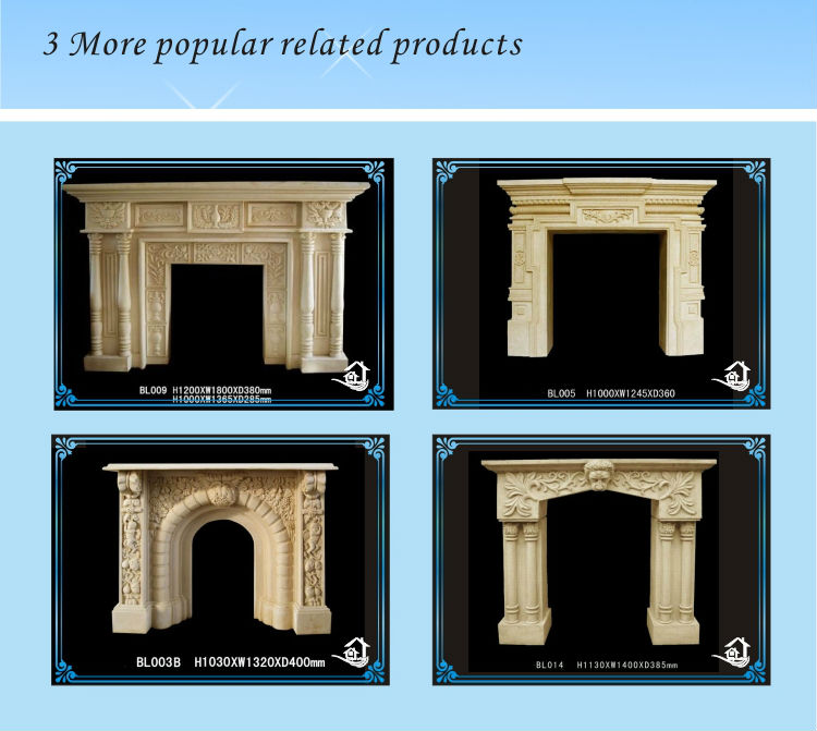 New Design Resin Mantel Fireplace
