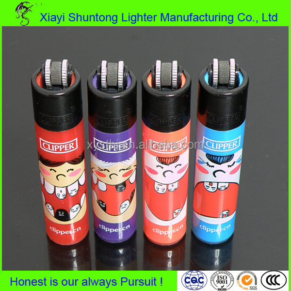 Factory disposable plastic custom clipper lighters