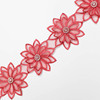 wholesale Polyester african tulle rhinestone fabric satin narrow flower eyelet trimming trim lace bridal for garment