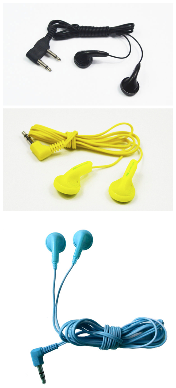 Disposable airplane earbuds airline earphones