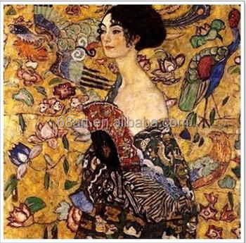 Gustav Klimt Belle Dame Portrait Peinture