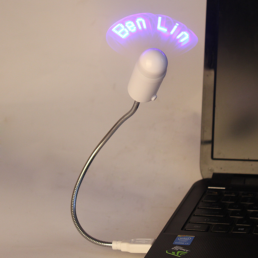 Programmable USB Mini LED Message Fan with Customized Flashing Text words