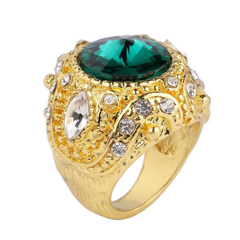 24k Gold Diamond Ring New Design Gold Finger Ring For Men - Buy ...