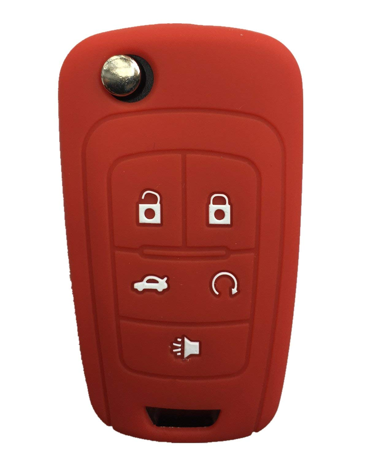 Rpkey Silicone Keyless Entry Remote Control Key Fob Cover Case protector For Buick Encore LaCrosse Regal Verano(gules) OHT01060512 5461A-01060512