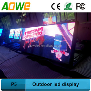 Outdoor wireless video broadcast led sign advertising P5 led eletronic board
