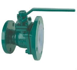 Fluorine lined bottom ball valve