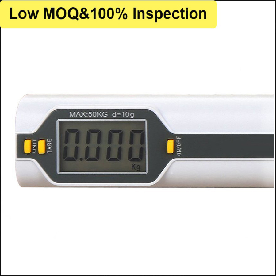 Clear Blue Backlight LCD Display Digi Weigh Scale with Measuring Tape