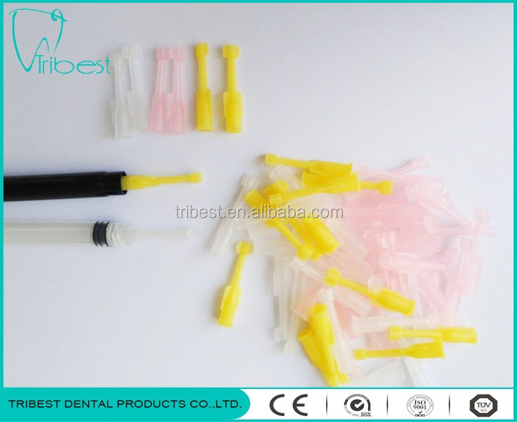 Dental whitening syringe tip