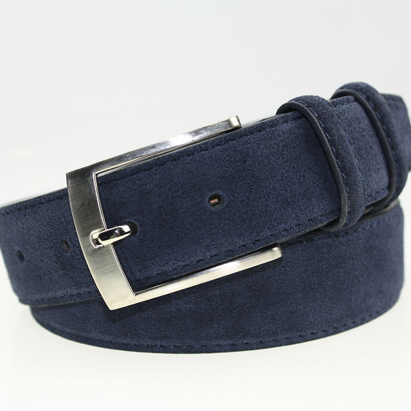 b22d39caaed Buy Fashion Velour-leather Waist Band Cintos Masculinos Brushed Leather Cinturones  Hombre Blue Velour Leather Belts for Men in Cheap Price on m.alibaba.com