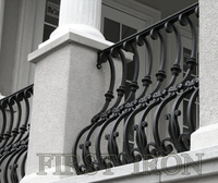 Vintage wrought iron balcony /porch railing