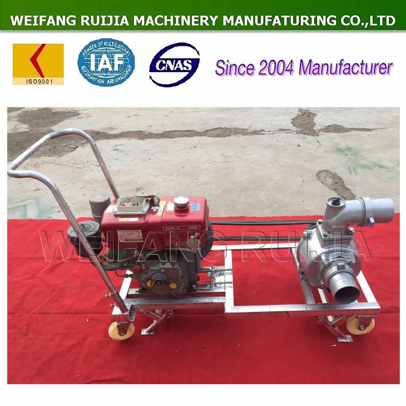 Hand push type diesel engine water pump for sale diesel for Diesel irrigation motors for sale