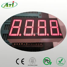"0.56"" 4 digit white color 7 segment led display, ATI LED components factory."