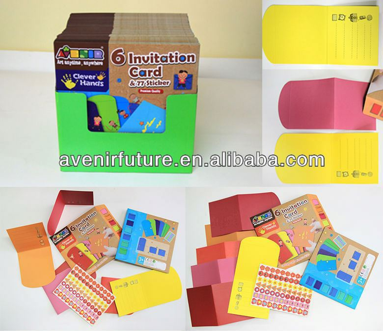 Create your own Thank you Card Kit and Stamp - Creative Art & Craft DIY Activity for Preschool, Pre-K, Kindergarten age Kids 3-6