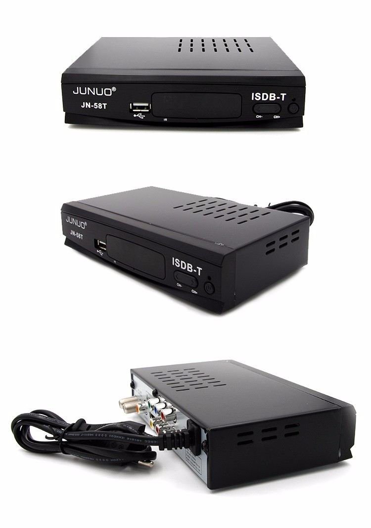 JUNUO tv box isdb-t full hd for brazil 1080 mpeg4 hd digital set top box
