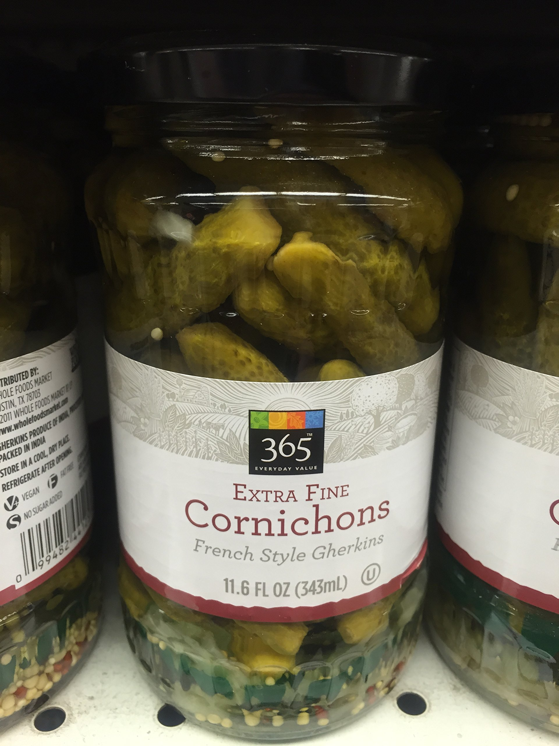 365 Everyday Value Extra Fine Cornichons - French Style Gherkins