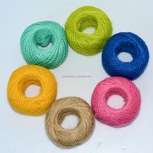Cuerda de cáñamo de color jute twine decorativo hecho a mano accesorios de bricolaje accesorios de