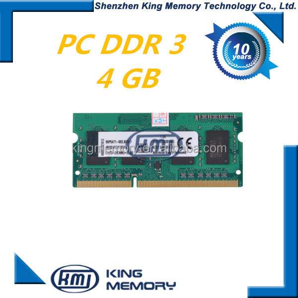 ETT original chipset ddr3 4gb laptop 204pin