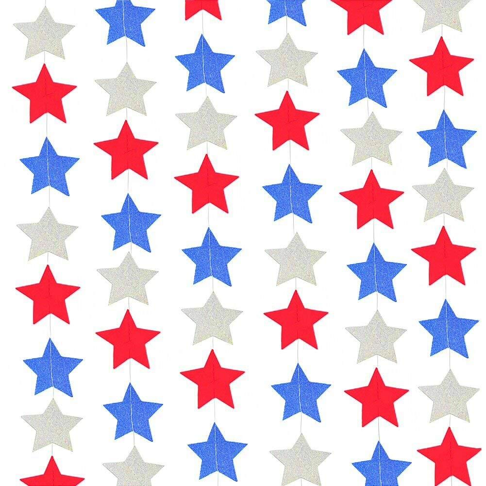 National Day Twinkle Patriotic Shooting Stars Hangings Swirl