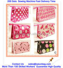 Customized Satin materials Lady cosmetic bag for promoiton