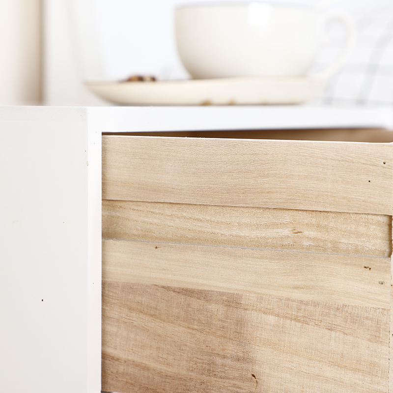 Bedside Table Assemble Storage Cabinet Nightstand for Bedroom